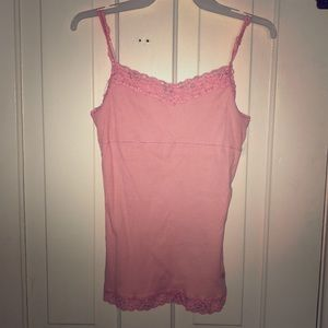 Pink Justice lace tanktop